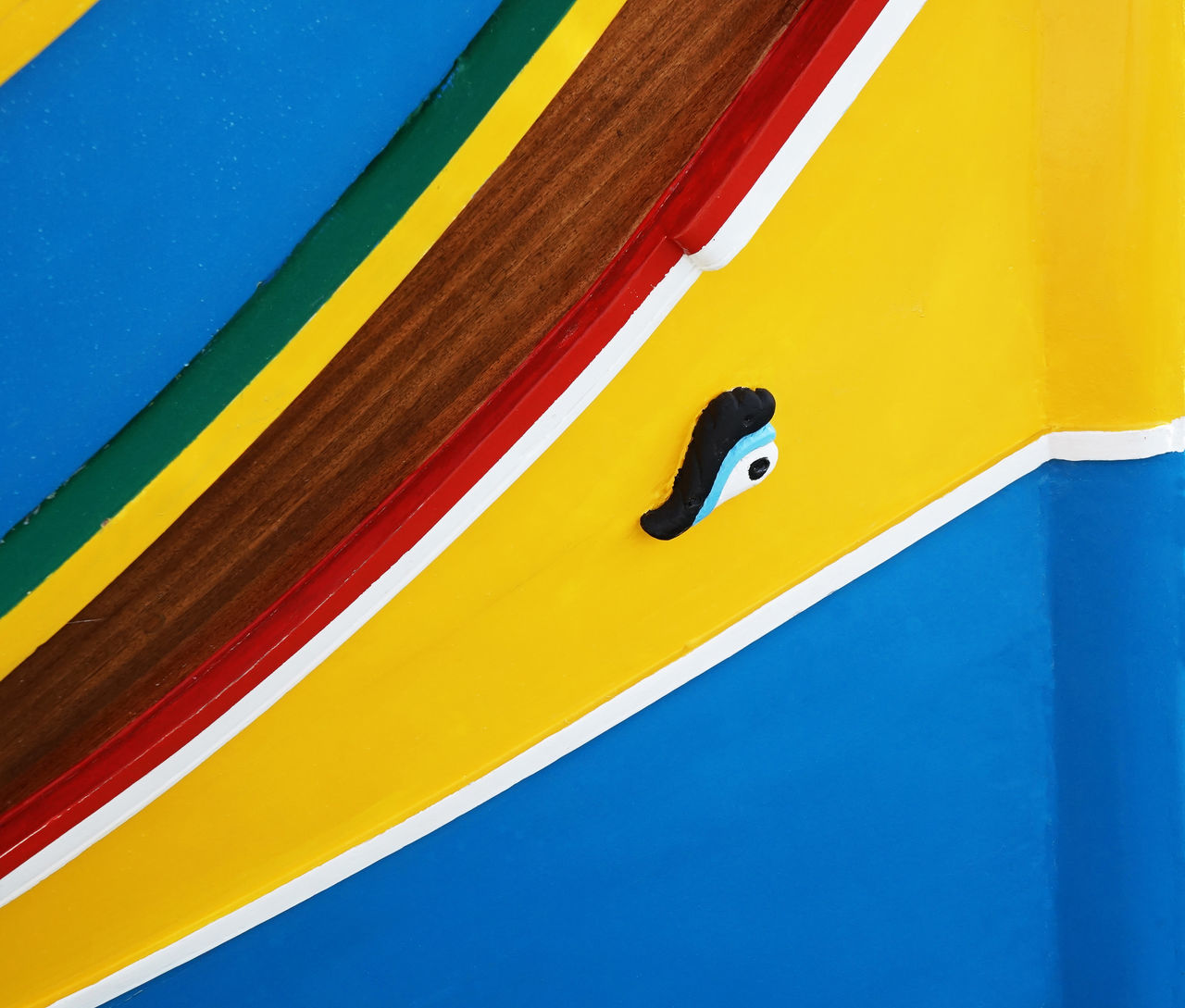 Abstract Photography Boat Boats Culture And Tradition Eye Fisherman Fishing Boat Luzzu Malta Marsaxlokk Medditerenean Osiris Sea Ship Square Traditional Yellow