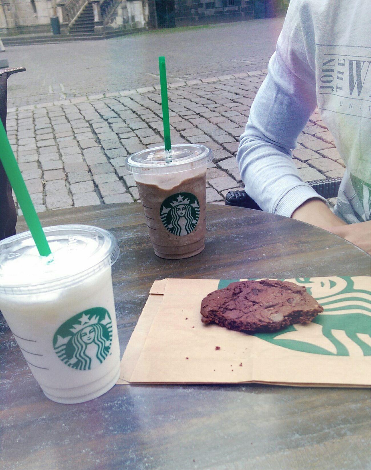 Starbucks with my baby ?? Starbucks Today Aachen Big Love
