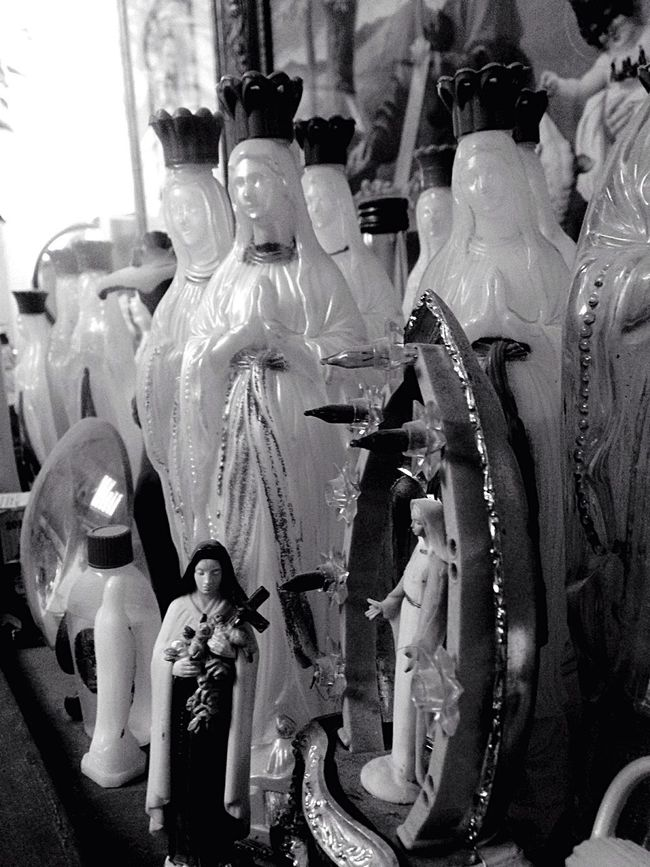 Holy Water Mother Mary Collection Rare Blackandwhite Close-up Cristian Catholic Decoration Lourdes Religion Bible Strange Concepts Repeat All Sizes Bottles Collection Bottle Believe No Believe West France Modern Vintage Freedom Holy Mary