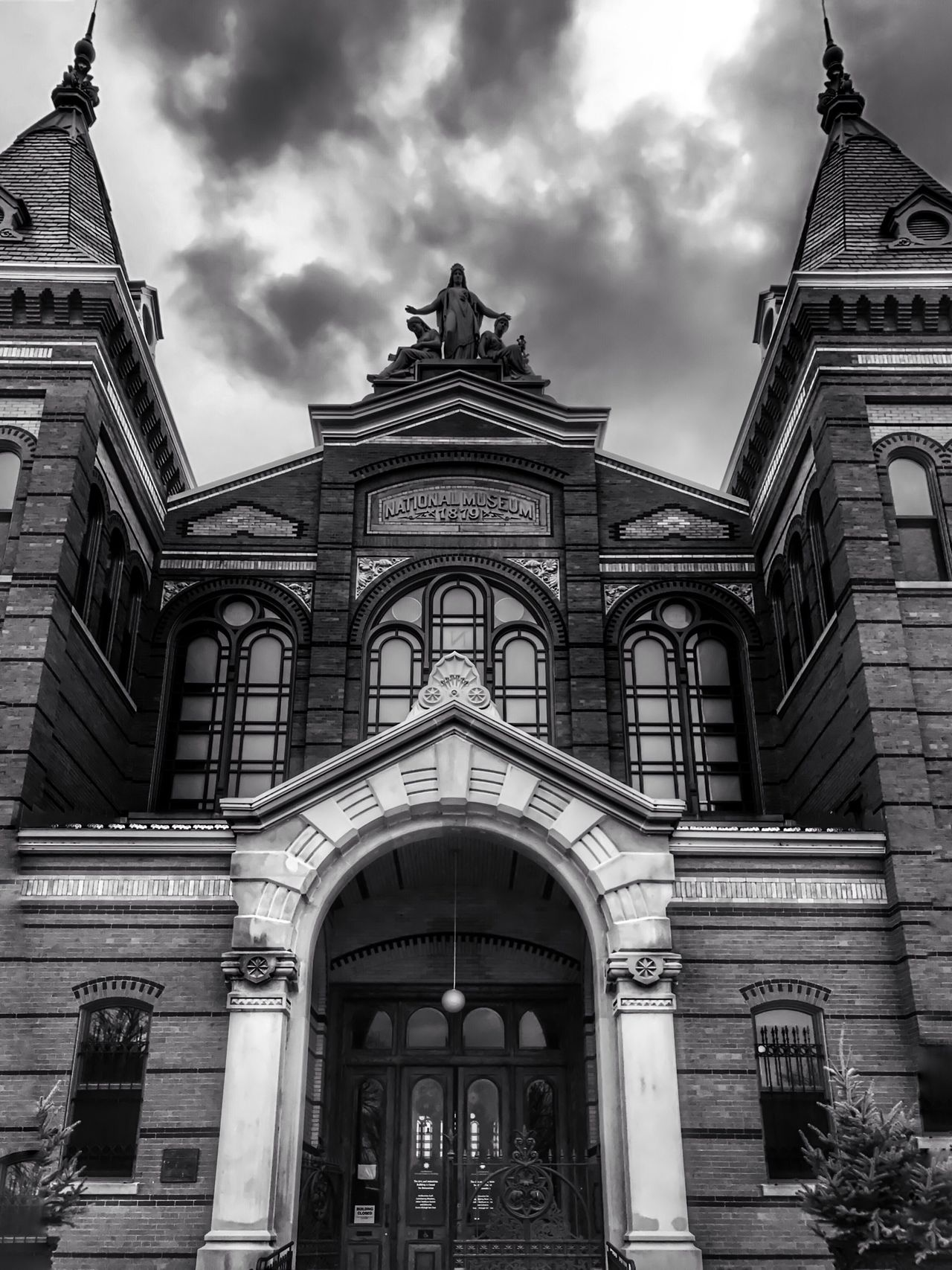 A black & white look at the Smithsonian Arts & Industries Building in Washington D.C. Washington, D. C. Blackandwhite Architecture Building Exterior Landmark IPhoneography
