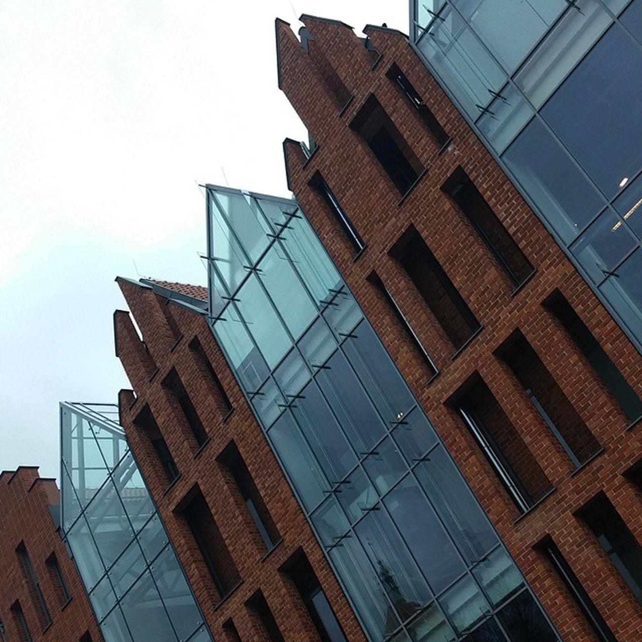 Modern Gdańsk Modern Building Redbricks Glass architecturelovers architecture architectureporn architecturephotography downtown oldtown instalike instagood city travel travelling journey Gdansk Poland