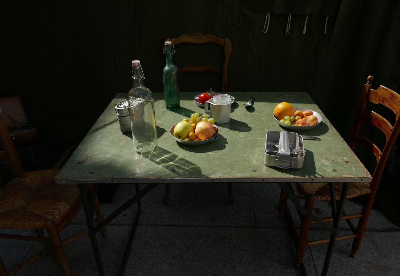 Bottle Food Food And Drink France Freshness Fruit Group Of Objects Indoors  Large Group Of Objects Old Fashion Style Place Setting Ready-to-eat Table