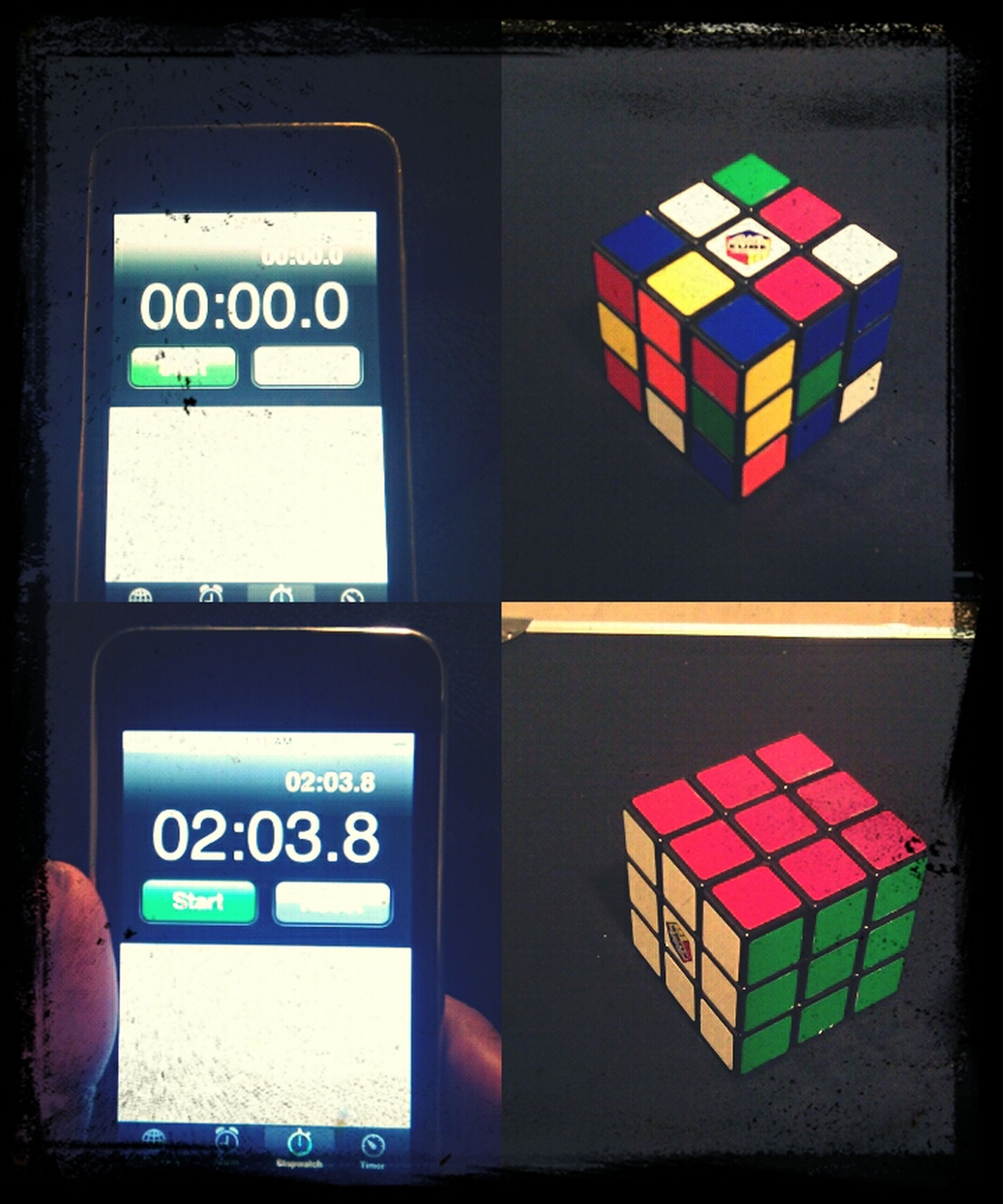 Solved A Rubiks Cube In 2 Minutes And 3 Seconds