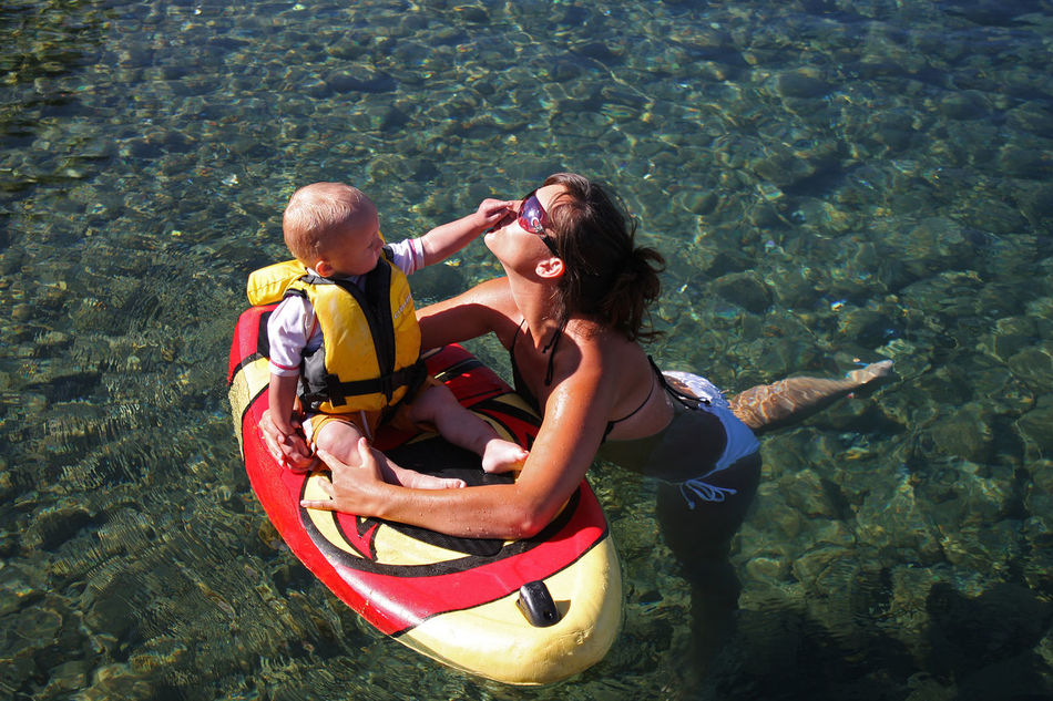 Beautiful stock photos of family, water, togetherness, full length, vacations
