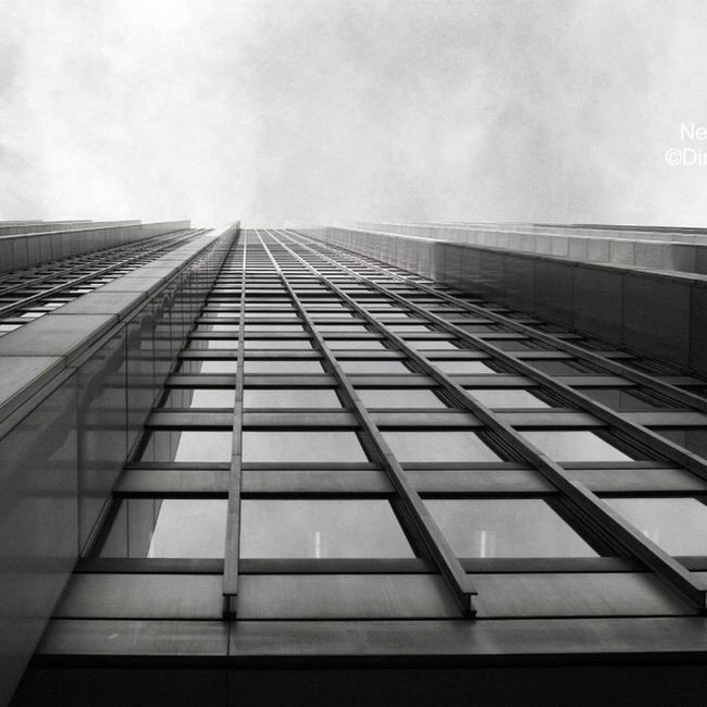 Look up, it is a skyscraper in Big Apple! Found On The Roll The Architect - 2016 EyeEm Awards Skyscraper Tall Building Exterior Look Up Outdoors Sky Low Angle View Office Building Vanishing Point Diminishing Perspective Directly Below Repetition City Life New York Cloud Overcast Perspective