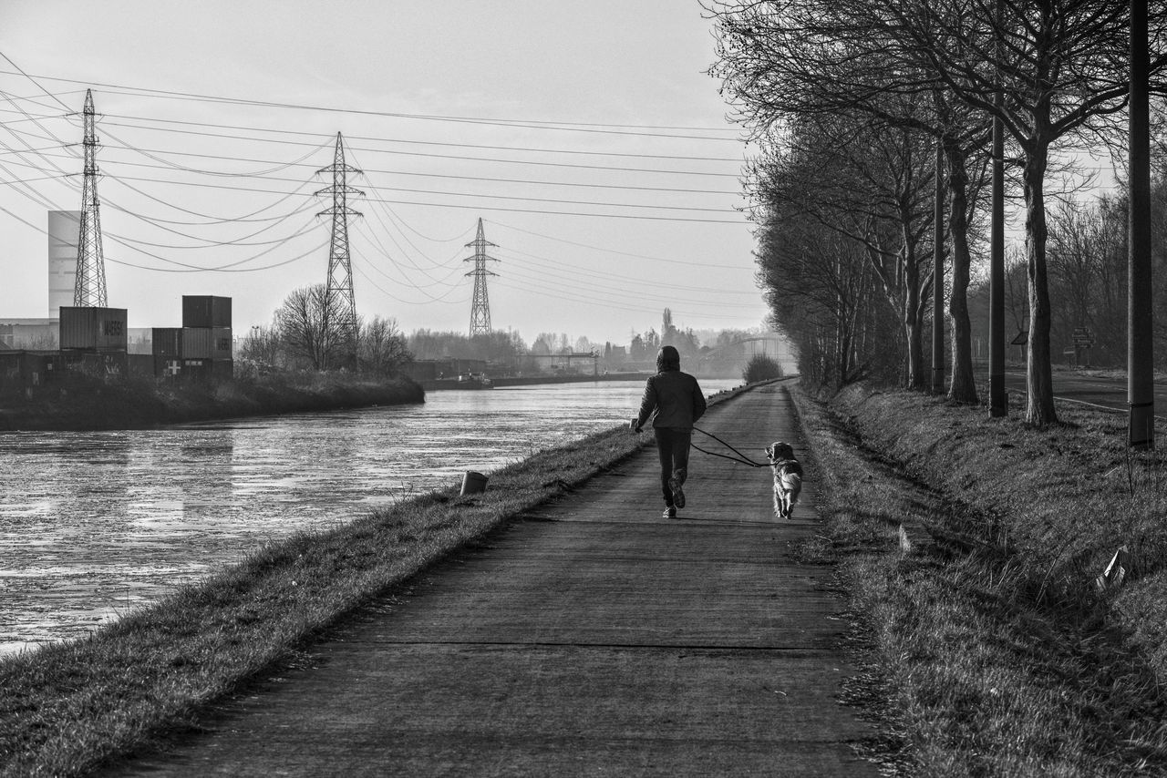 Good night, good morning 🌌🌌🌌🌌🌌🌃🌉🌉🌎🌎🌎🌎🌎 Men Dog Running Tree Outdoors City Leisure Activity Full Length Bridge - Man Made Structure Architecture Canals And Waterways Black & White Eye4photography  EyeEm Best Shots - Black + White From My Point Of View Capture The Moment Urban Exploration Fırst Eyeem Photo Black And White Taking Photos Exceptional Photographs Urban Perspectives Monochrome WeekOnEyeEm Transportation The Street Photographer - 2017 EyeEm Awards Live For The Story The Portraitist - 2017 EyeEm Awards The Great Outdoors - 2017 EyeEm Awards Place Of Heart Out Of The Box The Photojournalist - 2017 EyeEm Awards EyeEm Selects