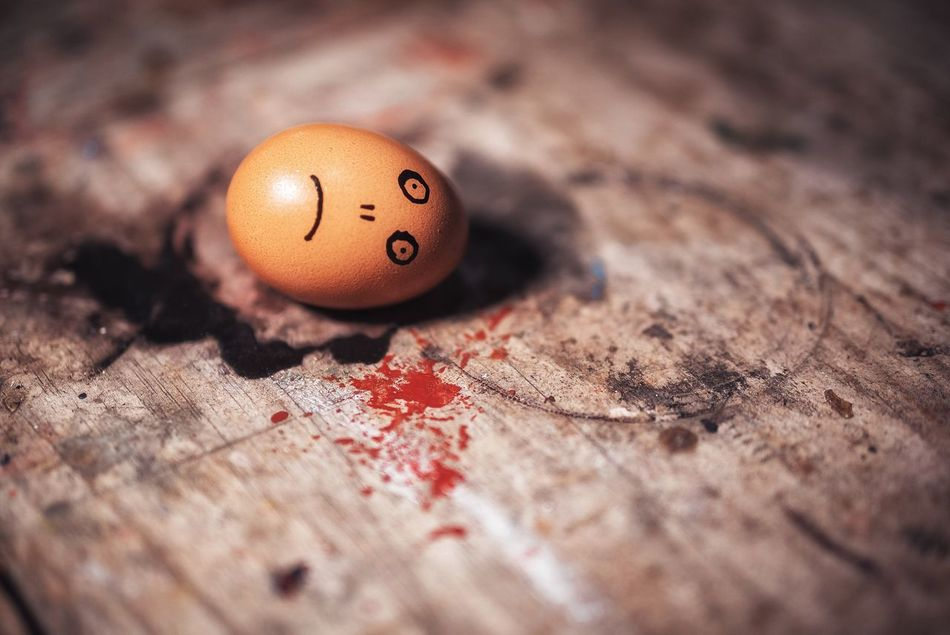 Egg Sad Dead Food Egg Isolated Ingredient Smiley Face Food And Drink No People Close-up Egg Yolk Healthy Eating Fragility Crisis Day Tired Blood Fake Killed Eggshell Sad Smiley