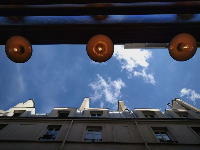 Above Low Angle View Day City Outdoors No People Sky Architecture Paris France Minimalism Cloud - Sky TheMinimals (less Edit Juxt Photography) Shootermag_france Shootermag Mariage Frères