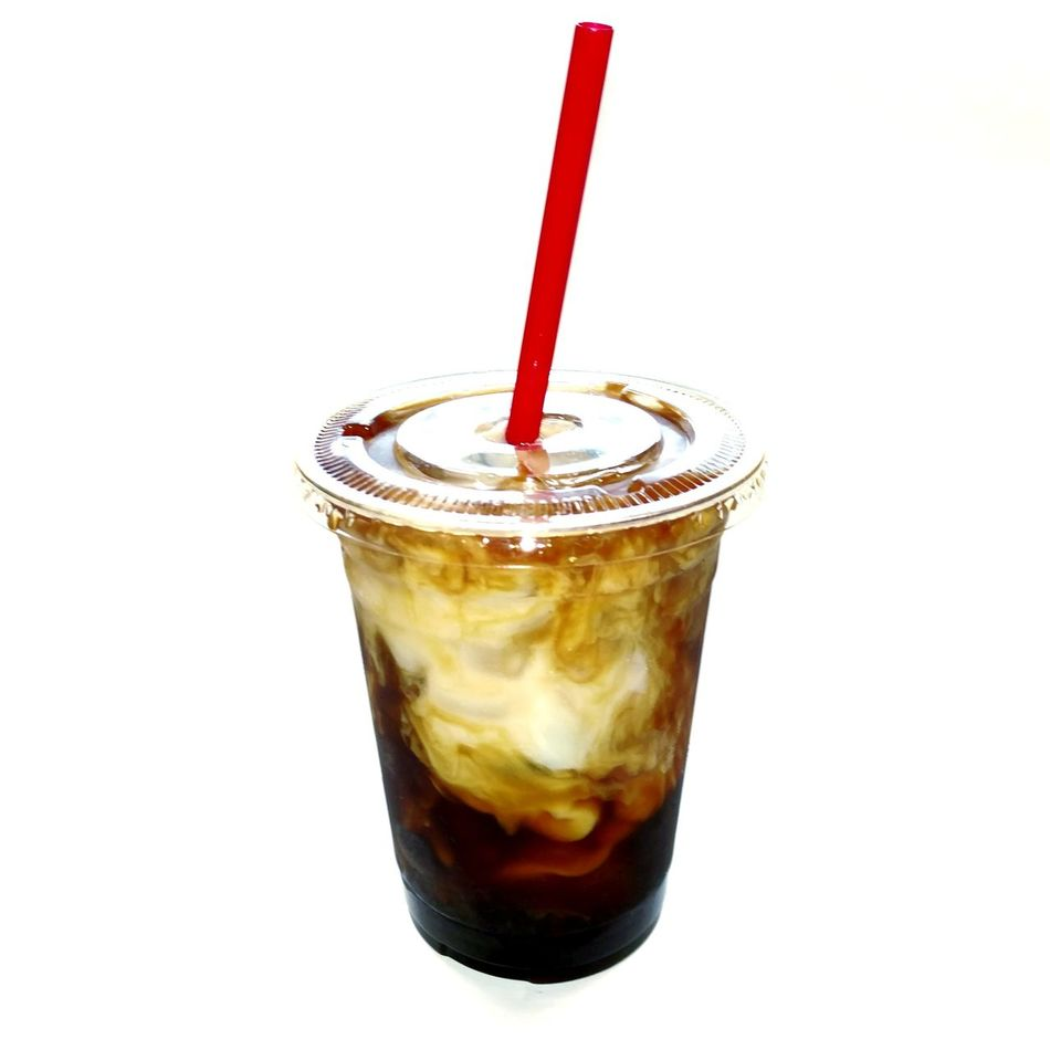 Drinking Straw Drink Drinking Glass Refreshment Cold Temperature Food And Drink No People Ice Cube Coffee Icedcoffee Iced Ice Cube Swirls Mixing Close-up Freshness Cafe Latte Coffee Time Yummy Indoors