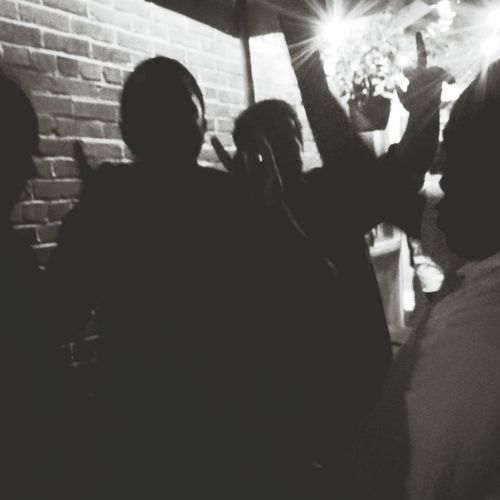 THESE Are My Friends-City Life- New Year-Party- all of the night- Outline Night Silhouette -time To Go-way Out Scenics -bar