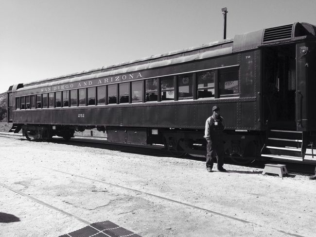 Black And White Old Train So Bored Waiting For A Train