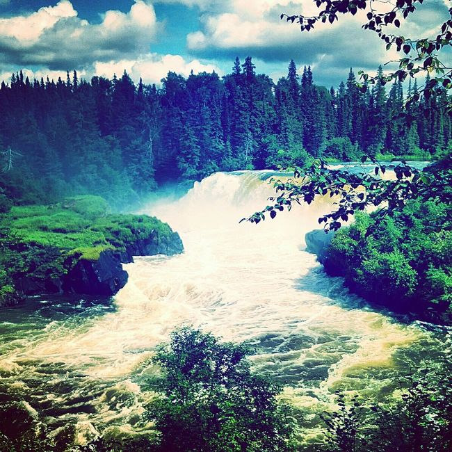 Summer in Northern Manitoba. Northern Manitoba Water Falls Grass River System