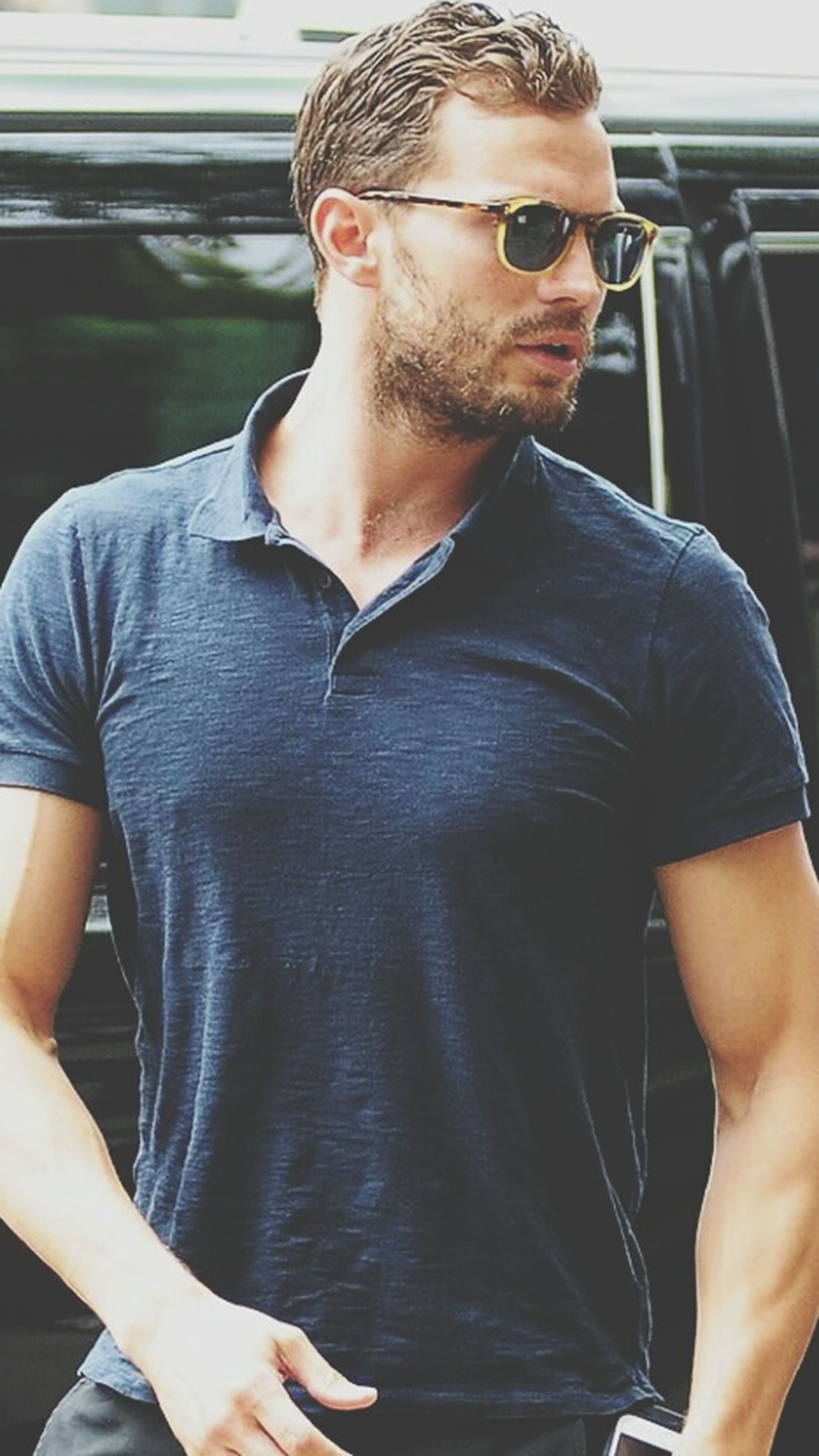 waist up, standing, casual clothing, business, young adult, t-shirt, front view, well-dressed, confidence, person, handsome, youth culture