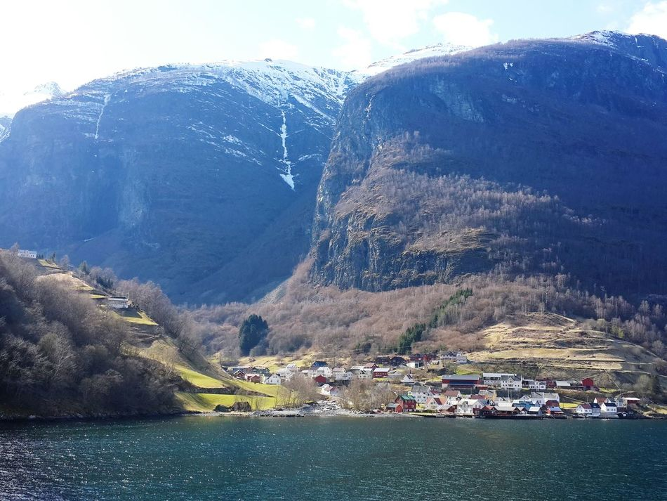 April2016 Day4 Norway Fjords Aurlandsfjord In The Country Ship View Undredal