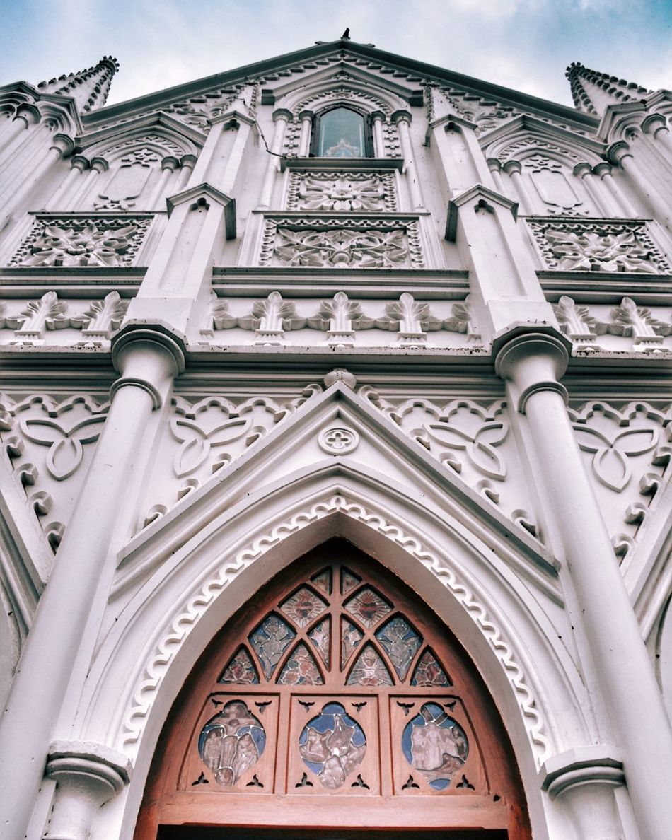 Church Building Exterior Low Angle View Architecture Built Structure No People Day Religion Outdoors Arch Place Of Worship Clock Rose Window Architecture Architecture_collection Architecturephotography Architectural Detail Church Beautiful Building Greatwork Exterior Design ArtWork