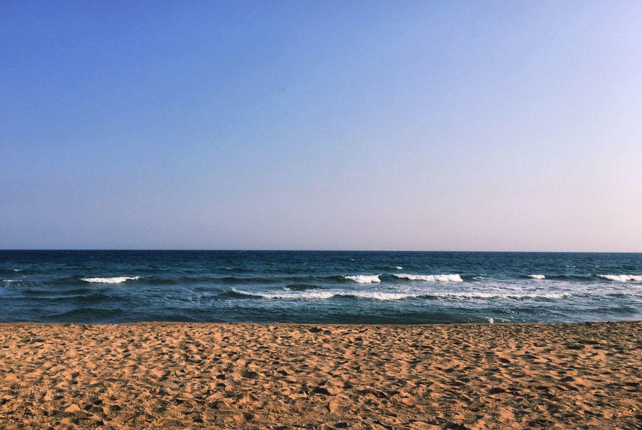 Bord De Mer Côte D'Azur Sea Beach Horizon Over Water Water Nature Beauty In Nature Tranquility Sky Mer Mediterranée Mer Méditerranée CIELFIE Skyfie Sable Blue Ciel
