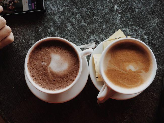 Dark Choco x Caffè Latte Coffee - Drink Coffee Cup Food And Drink No People