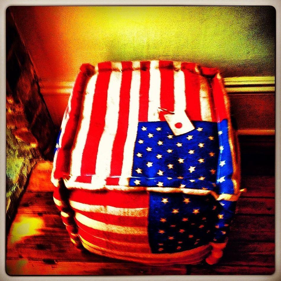 beautiful flag - heavy mterial like a burlap - perfect as ottoman or a stool/ table @dluxesavannah D.luxesavannah
