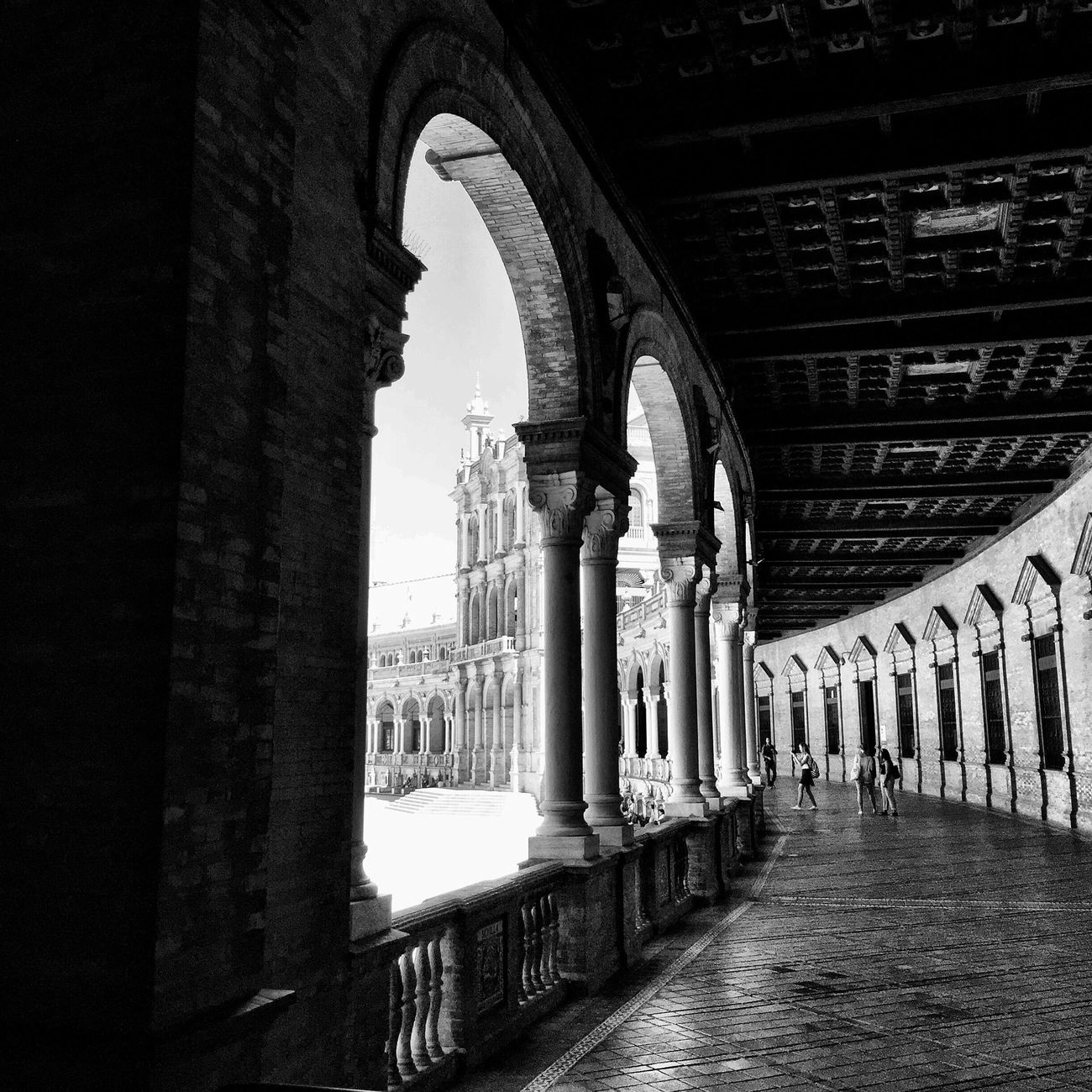 El otro día en la Plaza de España Sevilla Bw_collection Black And White Streetphoto_bw Blackandwhite Monochrome EyeEm Best Shots Arquitecture Movilgrafias