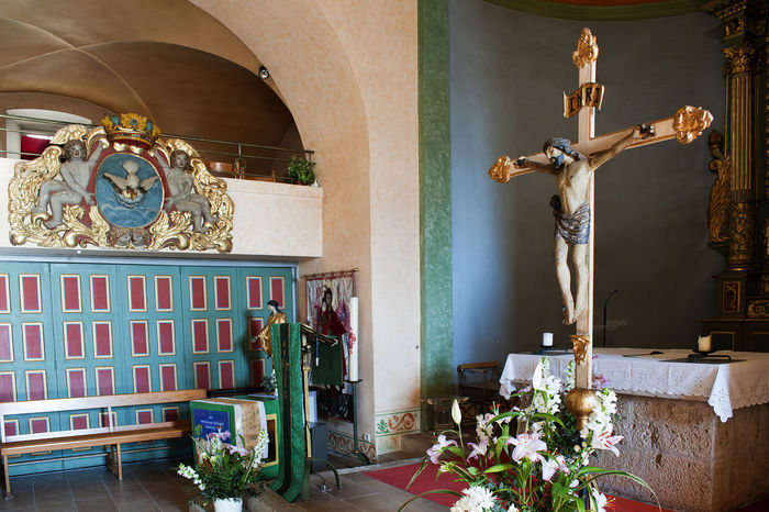 Architecture Art Art And Craft Built Structure Christ Creativity Crucifix Culture Door Entrance Human Representation Indoors  Mougins Mystic Ornate Place Of Worship Religion Religious  Religious Architecture Saint-Jacques Saint-Jacques Le Majeur Sculpture Spirituality Statue Wall