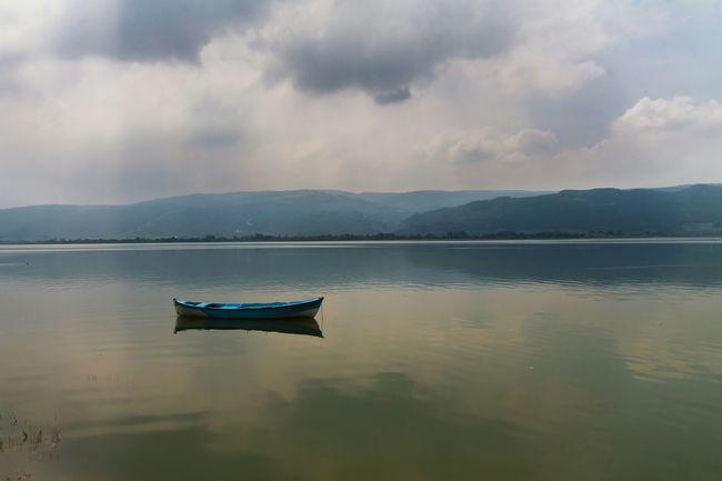 Lake Boat Landscape Relaxing Bursa Clouds