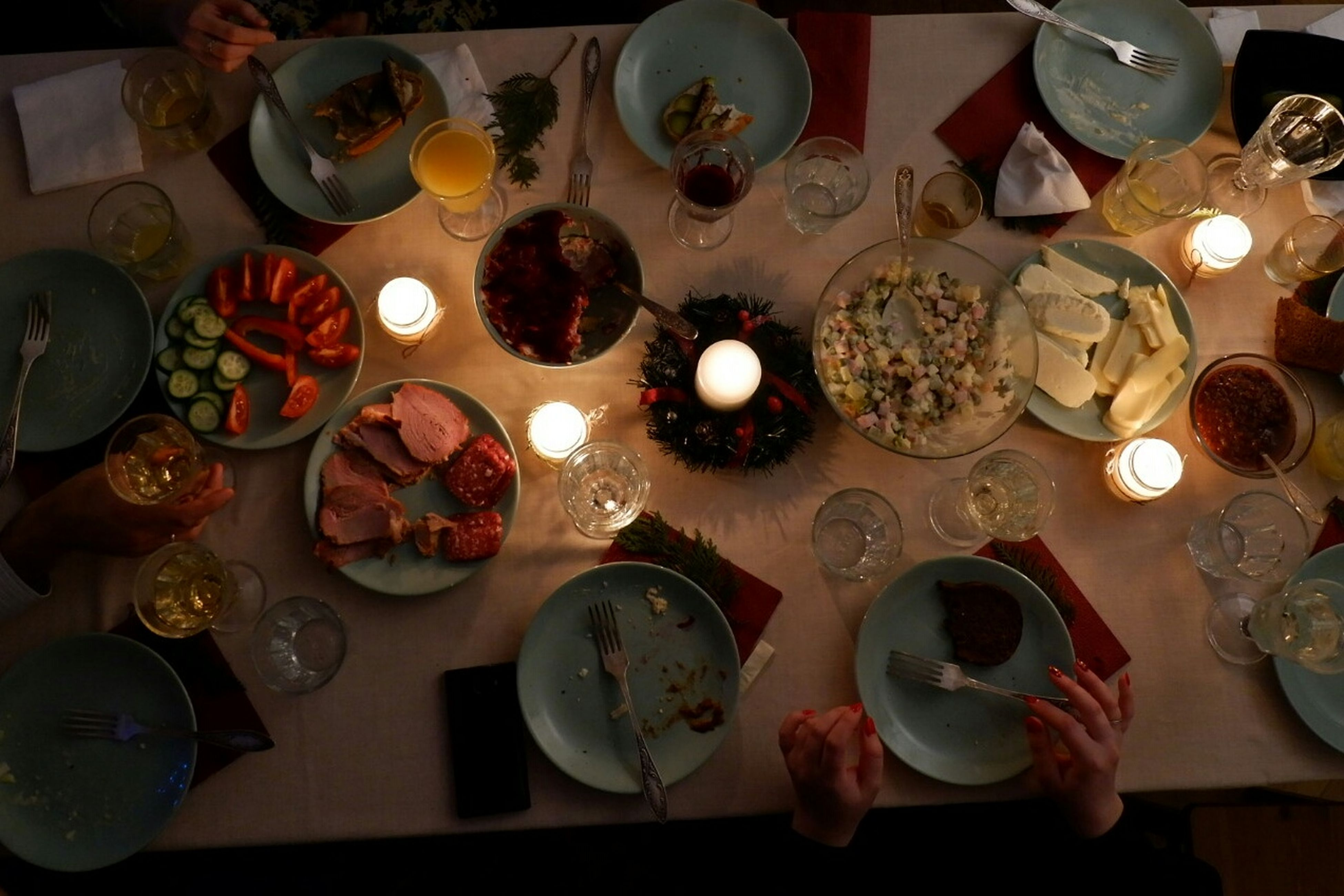 High Angle View Table Heat - Temperature Food And Drink Plate Fujifilm Fujifilm X-a10 Voronezh Food New Year Food Stories