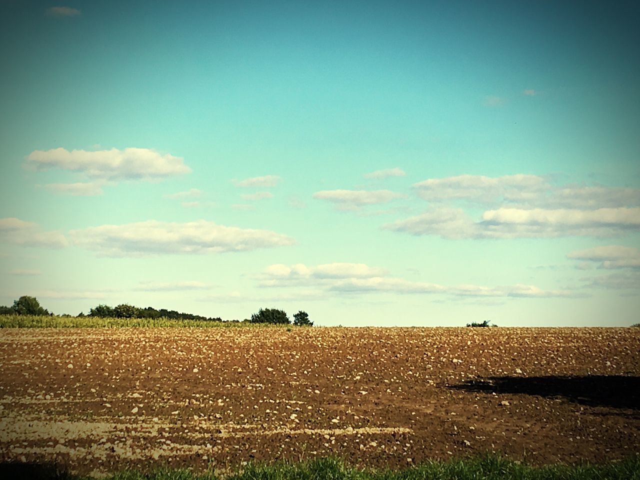 Landwirtschaftsromantik Landscape Beauty In Nature Farm Agriculture Field Sky Outdoors Day Countryside Cultivated Land