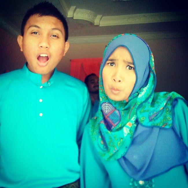 Raya with abang tersayang ! Buat Muka .