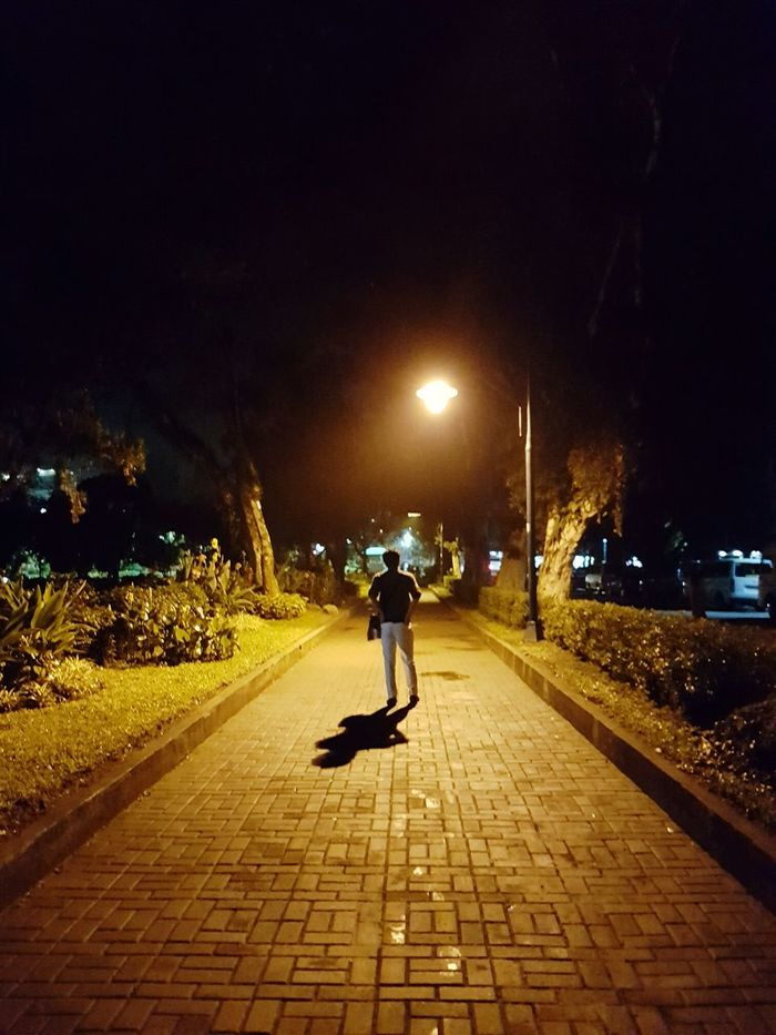 Night Full Length Street Light Illuminated Rear View One Person One Man Only Only Men Outdoors People Adults Only City Adult Sky Silhouette Eyeem Philippines Enjoying Life Philippines Photos Eyeem Philippines Eyeemjourney