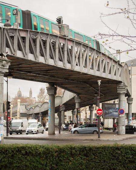 Stalingrad Ligne 2 Metro Métro Aérien Carrefour Circulation Montmartre Sacre Coeur