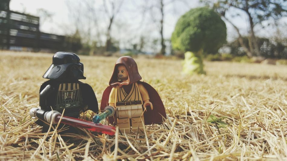 Spring is coming, Darth. Two People Friendship Adult Outdoors Tree Adults Only People Nature Grass Young Adult Day Gay Love Darthvader Obiwankenobi Star Wars LEGO