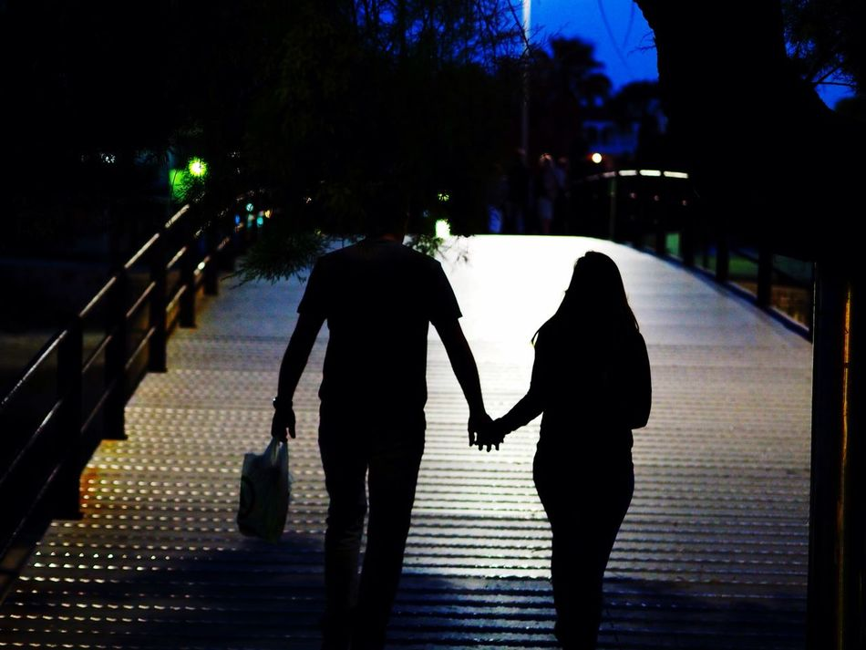 Beautiful stock photos of couples, Bonding, Bridge - Man Made Structure, Couple, Holding Hands