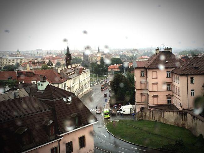 Rainy Days Prague From The Window