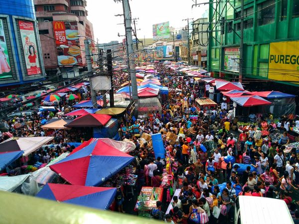 Outdoors Day Market City Multi Colored Architecture Large Group Of People Building Exterior People Crowd Sky Divisoria Philippines