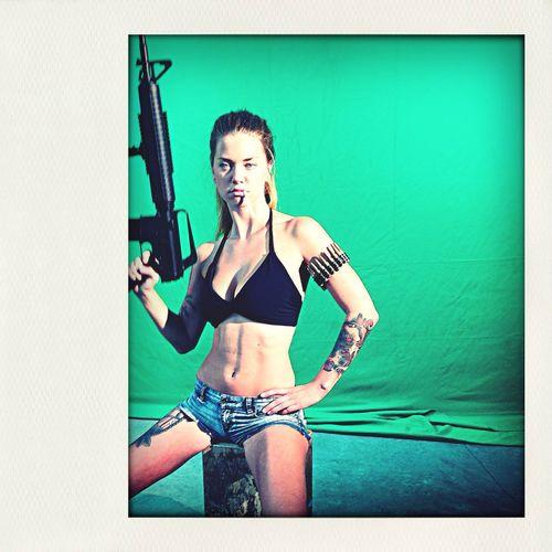 Green Screen Chicks Who Love Guns First Eyeem Photo