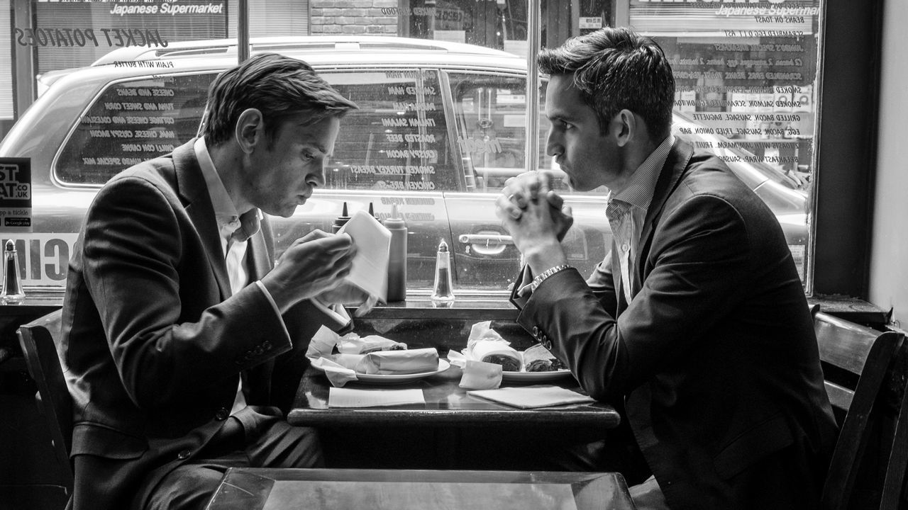 London Cafe Food Lunch Break Men Soho London Lifestyle Fujifilm_xseries Fuji Fujifilm X-E2 Fujifilm Photography Photooftheday Photo Of The Day Streetphotography Taking Photos Street Photography Blackandwhite Photography Photo Eating Worklunch Photograph LONDON❤ Street Taking Photos