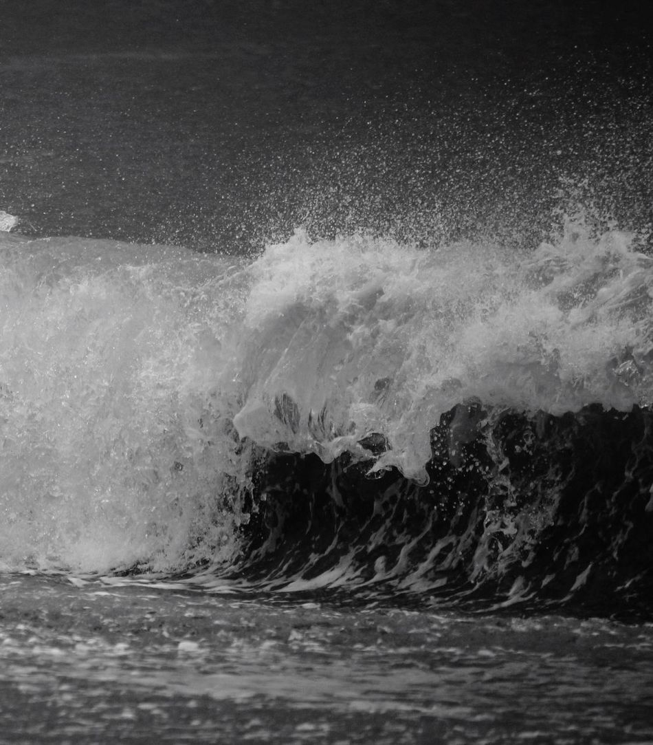 Breaking bad...😉 Power In Nature Crash Sea Motion Force Water Splashing Waterfront Nature Breaking No People Rough Outdoors Day Wave Beauty In Nature Blackandwhite Photography Blackandwhite Black And White Northumberland Surf Beach Spray