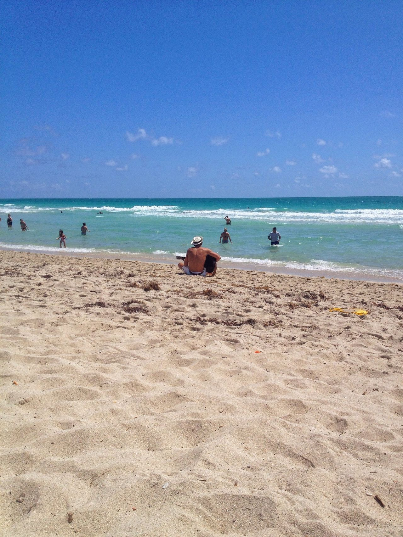 Beautiful stock photos of guitar, Beach, Day, Enjoyment, Horizon Over Water