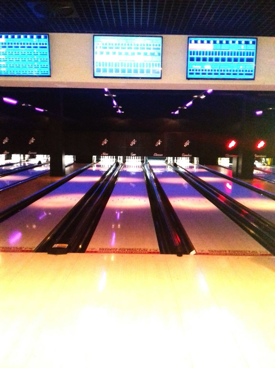 The cool atmosphere of bowling... Illuminated Neon EyeEmNewHere Bowling Lifeisgood Funtime