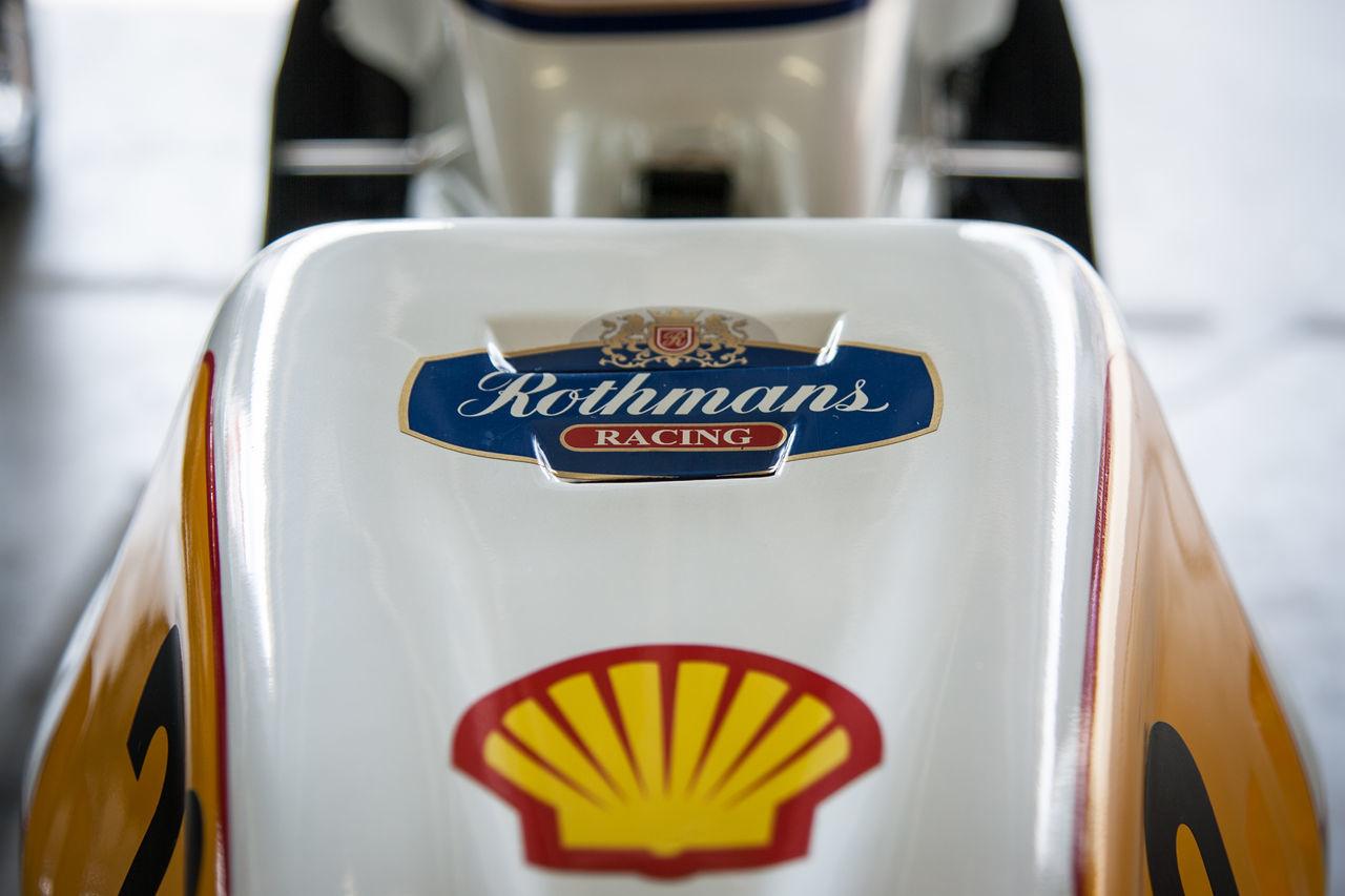 Rothmans Honda Classic Classic Motorbike Close-up Donington Park Focus On Foreground Honda Indoors  Racing Rothmans Sign Symbol Text