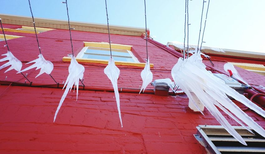 melting icicles Ice Icicle Building No People Outdoors Day Nautical Vessel City Sky