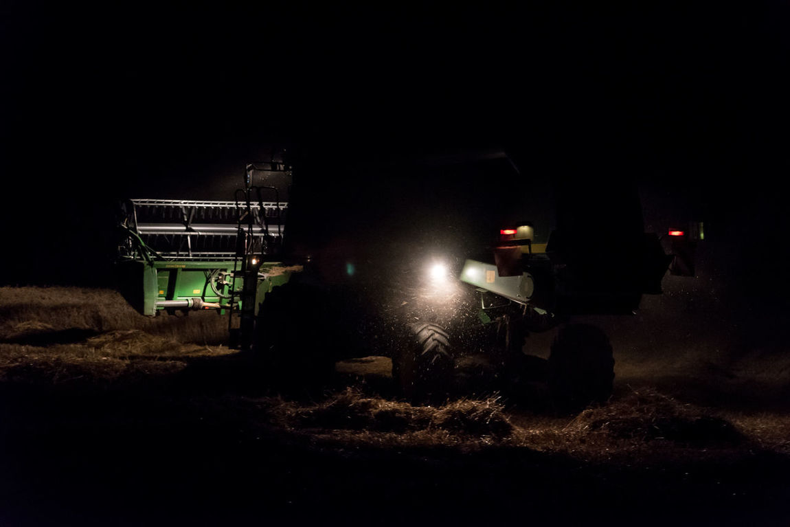 Night Illuminated No People Outdoors Oil Pump Farm Farm Life Farming Tractor Agriculture Working Corn Field Farmer Hard Work Nature Sky Harvest Harvesting Harvest Time Harvest Season Harvester Combine Harvester Cereal Crops Growth Field