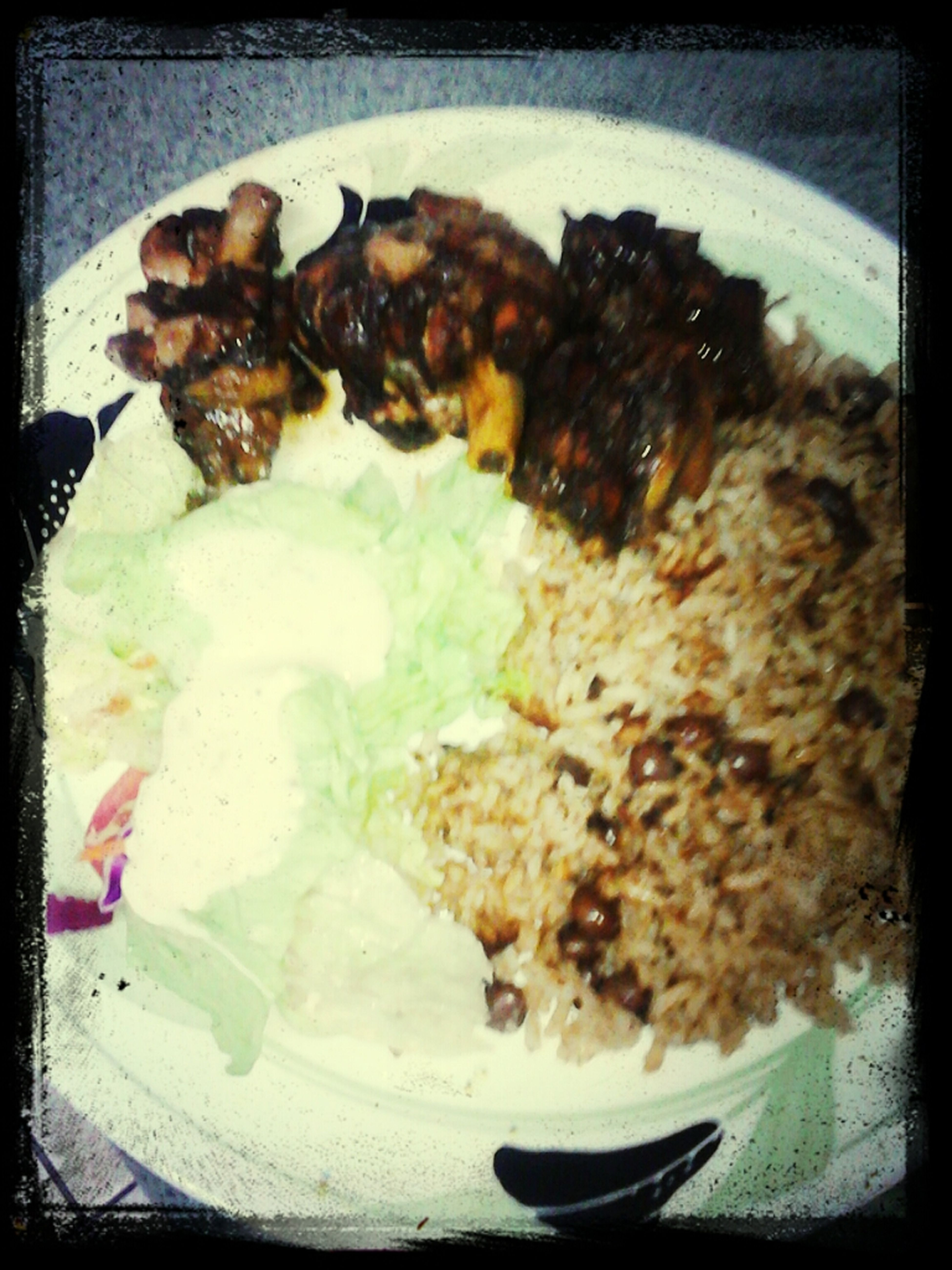 Rice And Piegon Peas, Btown Stew Chicken Side Salad W/ Creamy Italian Dressing #Jamican#Food#Good