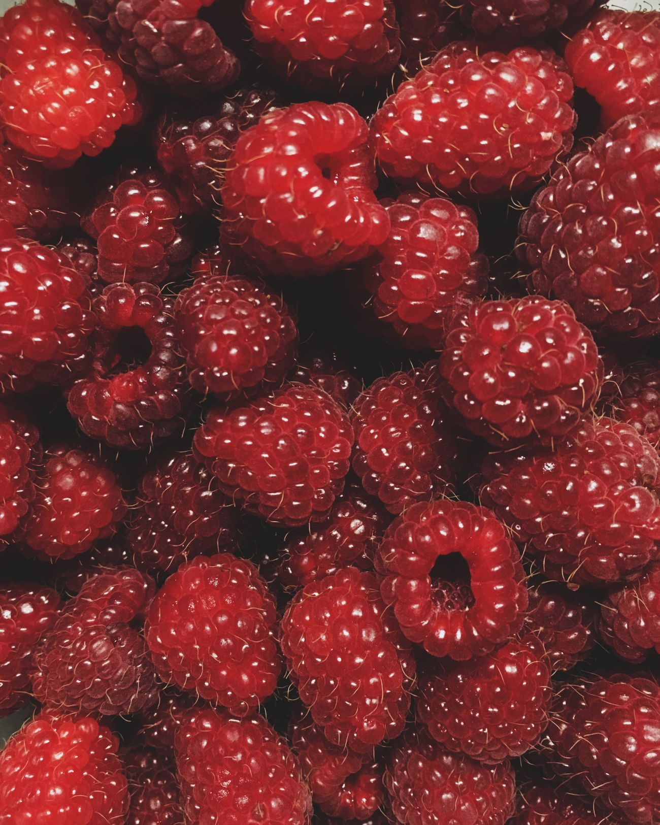 Summer IPhoneography Raspberry Food Berries Red Close Up Tasty Fresh