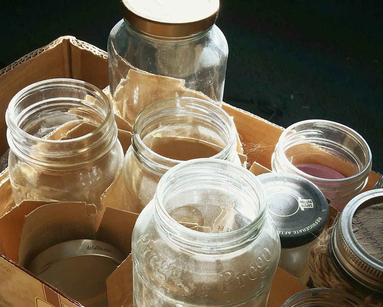 Close-up Recycling Glass Jars
