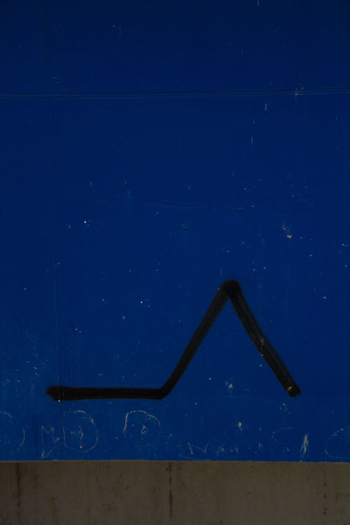 Abstract Arrow Black Line Blue Graffiti No People Urban Wall