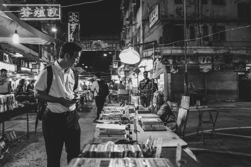 Temple Street Blackandwhite Monochrome_Photography Monochrome Discoverhongkong Streetphotography Nightphotography Market Temple Street EyeEm Gallery From My Point Of View Cityscapes Our Best Pics Captured Moment Moments Madeinwetzlar Beautiful Walking Around Found On The Roll EyeEm Best Shots Hello World Urban Exploration Love Taking Photos Shadows & Lights EyeEm Masterclass The Street Photographer The Street Photographer - 2017 EyeEm Awards The Portraitist - 2017 EyeEm Awards