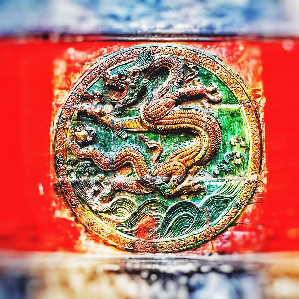 Oriental dragon_Carved 300 years ago. First Eyeem Photo Hello World Day Art And Craft