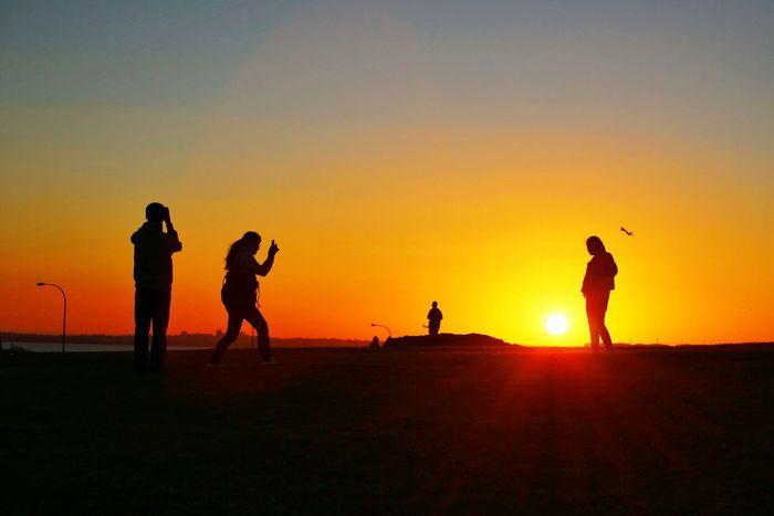 Sunset at La Perouse, Sydney, Australia First Eyeem Photo Silhouette Sunset Fun Friends