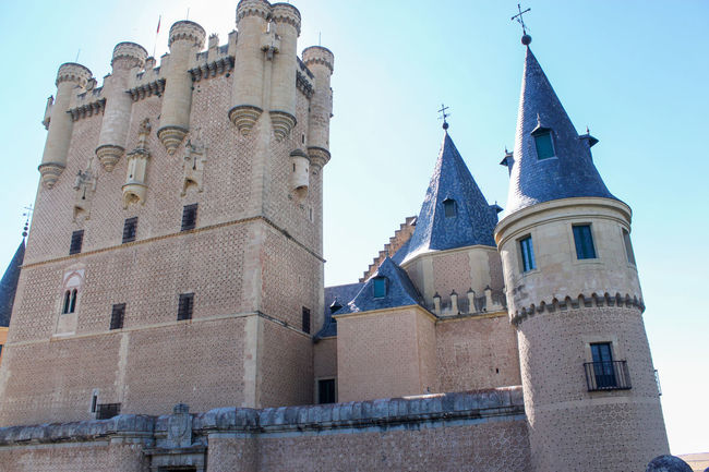Old holidays segovia Alcazar Alcázar Segovia Architecture Bell Tower Blue Building Exterior Built Structure Castle Cathedral Church Citadel Clear Sky Day Local Landmark Low Angle View Outdoors Place Of Worship Religion Royal Palace Sky Spire  Spirituality Steeple Tall - High Tower